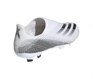 adidas X Ghosted.3 Laceless FG Blanc Junior
