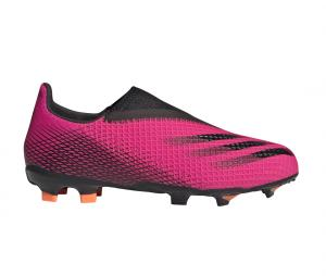 adidas X Ghosted 3 Laceless FG Rose Junior