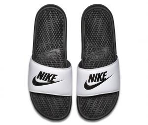 Sandales Nike Benassi Just Do It Blanc/Noir