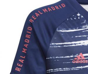 Maillot Pré-Match Real Madrid Bleu/Blanc Junior