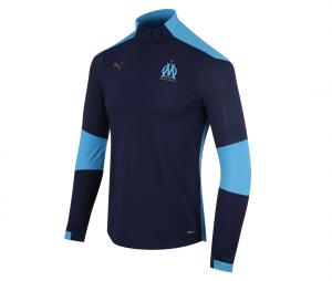 OM Quarter Zip Woman's Football Top Blue