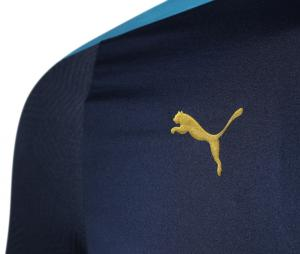 Camiseta manga larga fútbol OM Azul Mujer