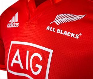 Maillot Entraînement All Blacks Rouge