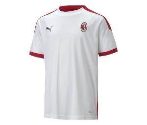 Maillot Entraînement AC Milan Blanc/Rouge Junior