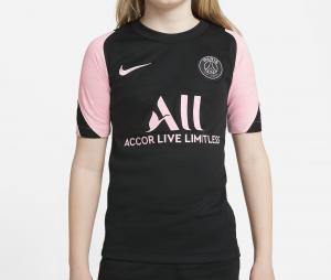Maillot Entraînement PSG Strike Noir/Rose Junior