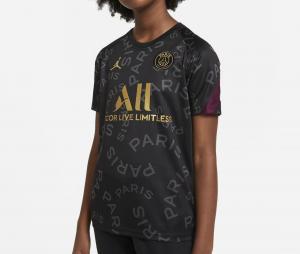 Maillot Pré-Match Jordan x PSG Noir Junior