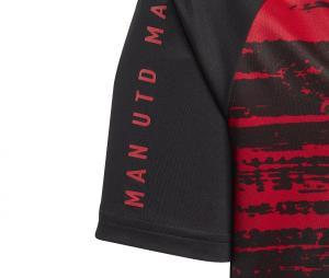 Maillot Pré-Match Manchester United Noir/Rouge Junior