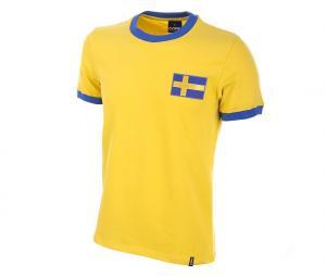 Maillot Vintage Copa Classic Suède 1970 Jaune