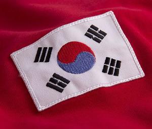 Maillot Vintage Corée du Sud 1970 Rouge