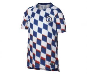 Maillot Pré-Match Chelsea Squad Bleu/Blanc Junior
