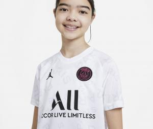 Maillot Pré-Match Jordan x PSG Blanc Junior