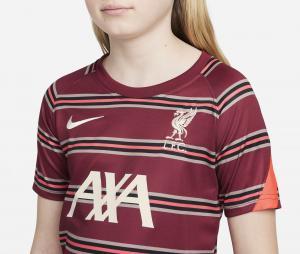 Maillot Pré-Match Liverpool Strike Rouge Junior