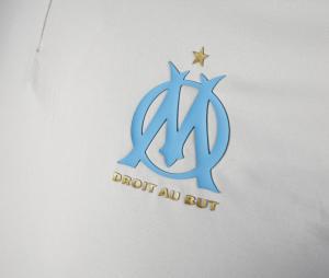 Camiseta manga larga fútbol OM Gris