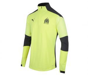 Camiseta manga larga fútbol OM Amarillo