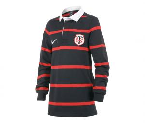 Polo Manches Longues Stade Toulousain Boxing Day Noir/Rouge Junior