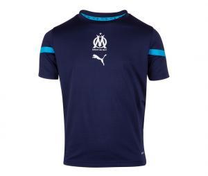 OM Pre-Match Kid's Short-Sleeve Football Top Blue