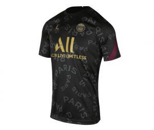 Maillot Pré-Match Jordan x PSG Noir