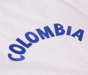 Maillot Vintage Colombie 1973 Blanc