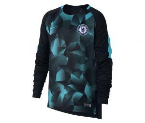 Maillot Manches Longues Pré-Match Chelsea Noir/Bleu Junior