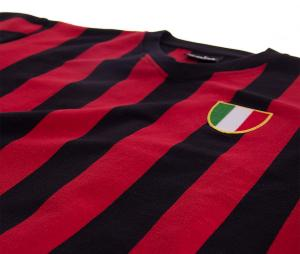 Maillot Vintage Milan AC 1960 Noir/Rouge