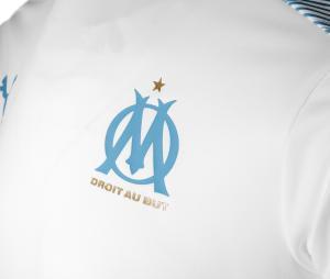 Camiseta de Entrenamiento OM Blanco/Azul Júnior