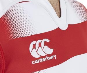 Maillot d'entraînement Canterbury Vapodri Challenge Hooped rouge/blanc