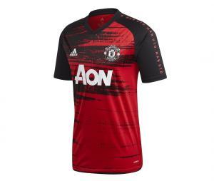 Maillot Pré-Match Manchester United Noir/Rouge