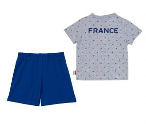 Mini Kit France Fan Gris/Bleu Bébé