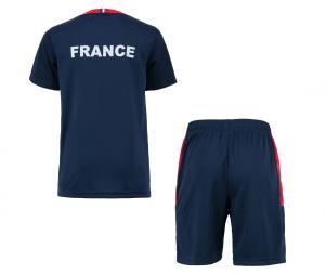 Mini Kit France Fan Bleu Junior