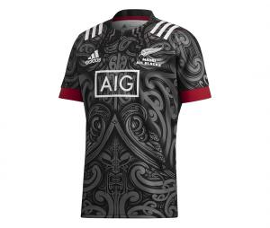 Maillot Maori All Blacks Replica Noir