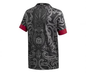 Maillot Maori All Blacks Replica Noir Junior