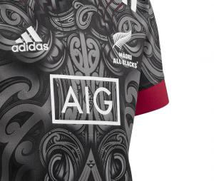 Maillot Maori All Blacks Replica Noir Junior