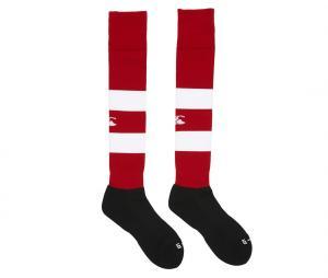 Chaussettes Canterbury Rouge/Blanc/Noir