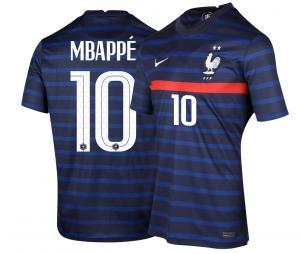 Maillot France Domicile MBAPPE 2021-2022 Junior