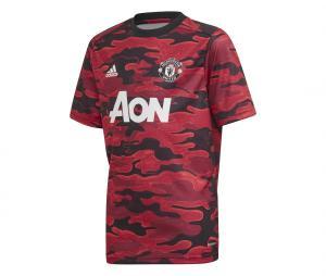 Maillot Pré-Match Manchester United Rouge/Noir Junior