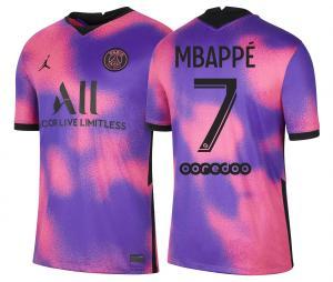 Maillot Jordan x PSG Fourth Mbappé 2020/2021