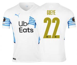 OM Authentic Home Men's Football Shirt Europe Gueye 2021/2022