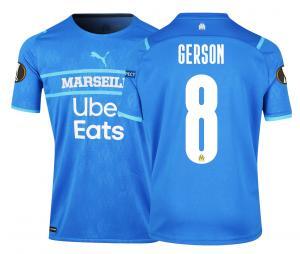 2021/2022 OM Authentic Europe Third Men's Football Shirt Gerson