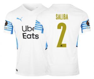 OM Home Men's Football Shirt Europe Saliba 2021/2022