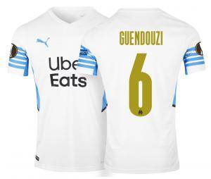 OM Home Men's Football Shirt Europe Guendouzi 2021/2022