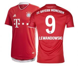 Maillot Authentique Bayern Munich Domicile Lewandowski 2020/2021
