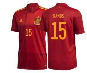 Maillot Espagne Domicile Euro Ramos 2020