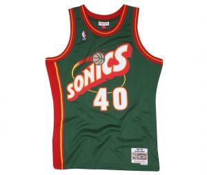 Maillot Seattle SuperSonics Kemp numéro 40 1995/96 Vert