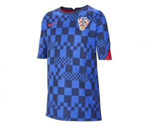 Maillot Pré-Match Croatie Bleu Junior