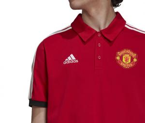 Polo Manchester United 3-Stripes Rouge