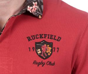 Polo Manches Longues Ruckfield Rugby Club Automne Rouge