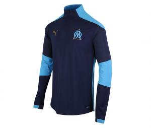OM Quarter Zip Kid's Football Top Blue