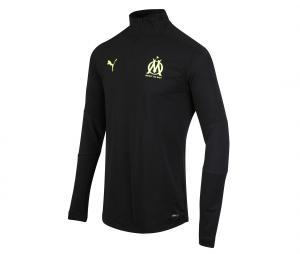 Camiseta manga larga fútbol OM Negro Júnior