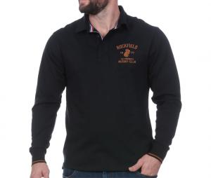 Polo Manches Longues Ruckfield French Rugby Club Noir