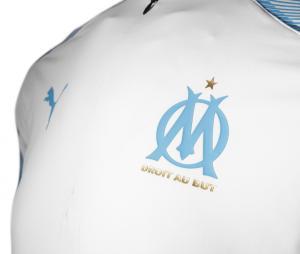 Camiseta manga larga futbol OM Blanco/Azul